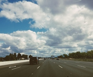 clouds, indie, and road image