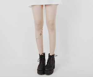 legs, pale, and shoes image