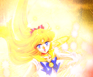 anime, sailor v, and minako aino image