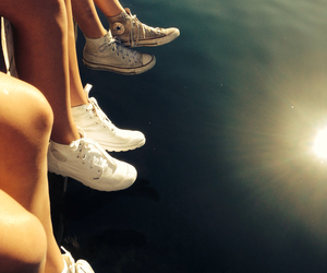 converse, summer, and white image