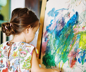 kids, child, and art image