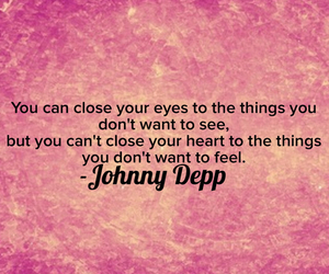eyes, johnny depp, and heart image