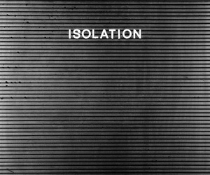 isolation, black and white, and joy division image