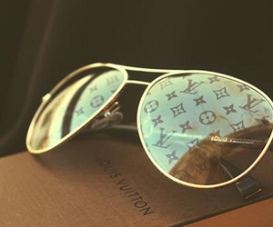 Louis Vuitton, sunglasses, and LV image