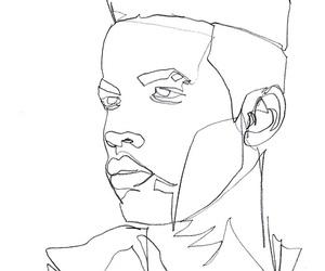 art, black, and man image