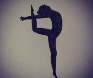 ballet, drawing, and black image