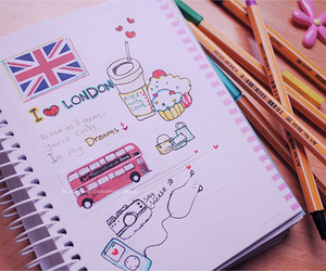 colours, drawings, and london image