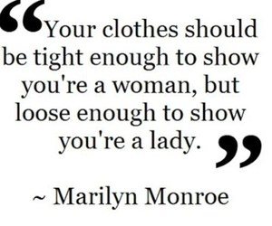 quote, Marilyn Monroe, and lady image