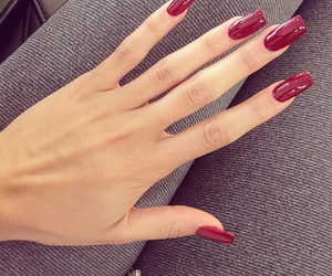 nails, red, and hand image
