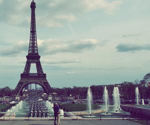 paris, couple, and cute image
