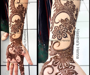 art, henna, and tattoo image