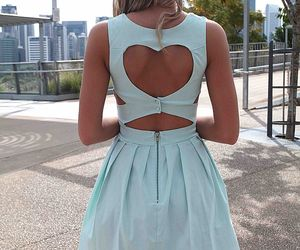 dress, heart, and fashion image