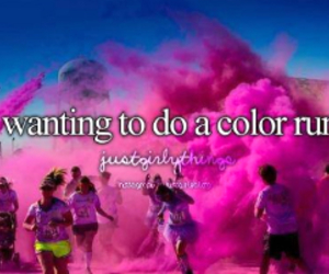 color run, pink, and run image