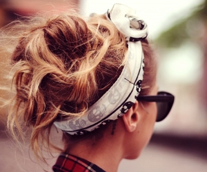 hair, fashion, and sunglasses image