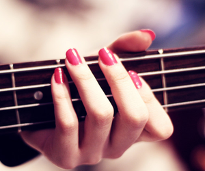 guitar, nails, and music image