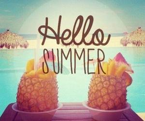 beach, pineapple, and hello image