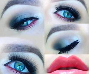 blue, look, and make up image