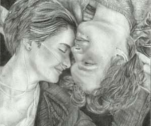 love, drawing, and the fault in our stars image