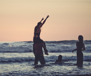 free people, sea, and summer image
