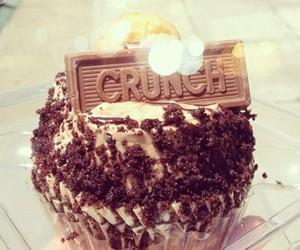 crunch, chocolate, and cupcake image
