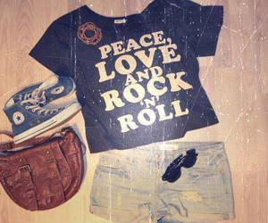peace, outfit, and converse image