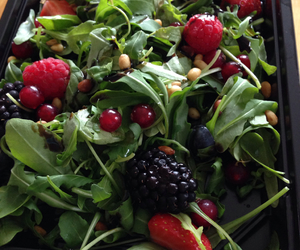 berries, health, and salad image
