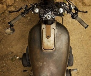 customized, vintage, and motorcycle image
