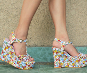 fashion, shoes, and floral image