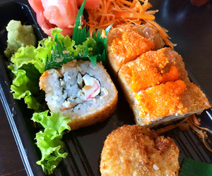 delicius, sushi, and food image