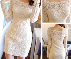 cute dress, fashion, and lace image