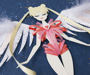 sailor moon and Paper image