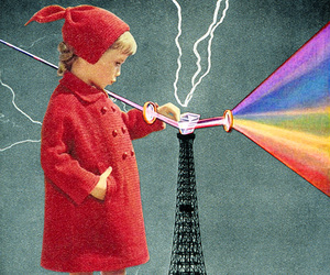 Collage, rainbow, and science image