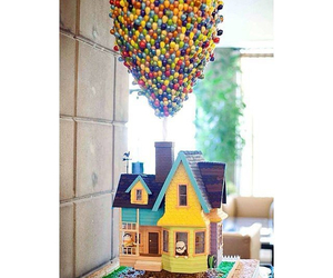 balloons, cake, and house image