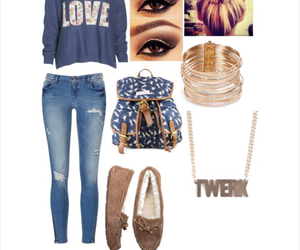 outfit, Polyvore, and twerk image