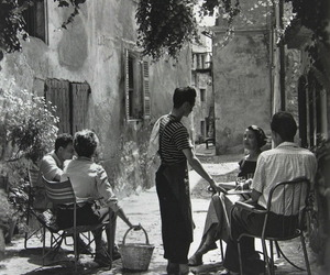 black and white, vintage, and france image