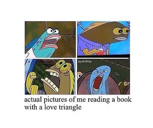 books, reading, and spongebob image