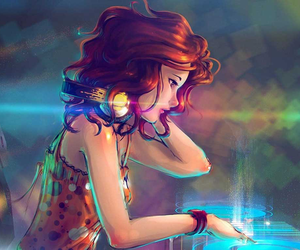 music, dj, and anime image