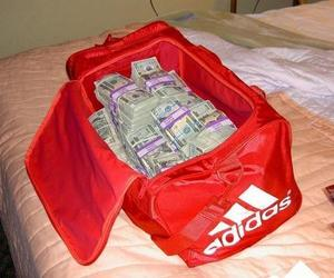 money, adidas, and bag image