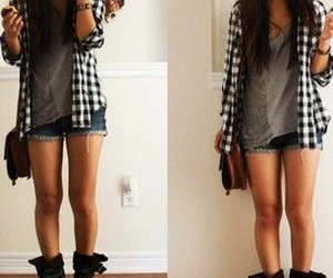 boots, layered, and casual image