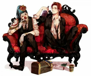 one piece, shanks, and buggy image
