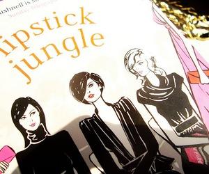 book, fashion, and lipstick image