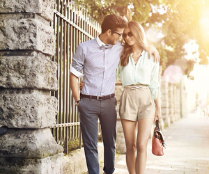 beige, classy, and couple image