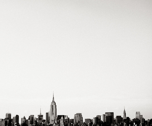 city, nyc, and black and white image