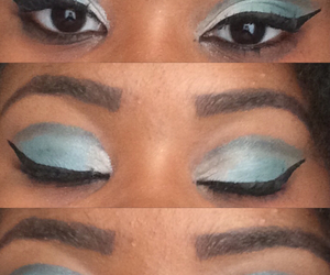 blending, blue, and eyebrows image