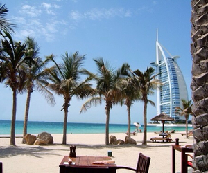 Dubai, beach, and summer image