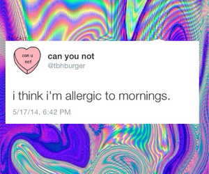 mornings, allergic, and hipster image