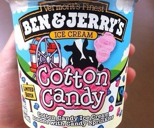 ice cream, cotton candy, and food image