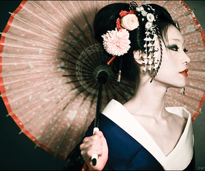 beautiful, cherry blossom, and hair style image