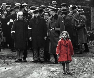 schindler's list, movie, and red image