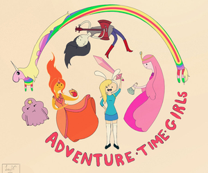 adventure time, girls, and lady rainicorn image